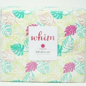 Martha Stewart WHIM 100% Cotton Sheet Set - FULL